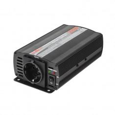 Invertor Kemot 12V/230V, Putere 300W, Cabluri cu crocodili, 1 x Priza