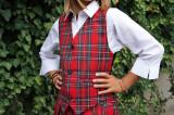 Vesta Scolara Carouri Unite Uniform Rosie, 11-12 ani, 13-14 ani, 15-16 ani, 6-7 ani, 8-9 ani, 9-10 ani, Rosu