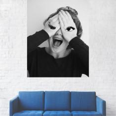 Tablou Canvas, Portret Artistic, Alb-Negru, Femeie - 20 x 25 cm