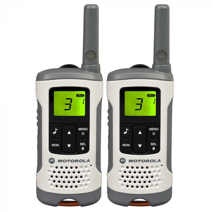 Resigilat : Statie radio PMR portabila Motorola TLKR T50 set cu 2 buc Alb
