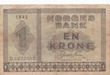 NORVEGIA 1 KRONE 1942 F