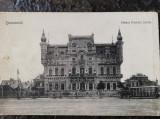 Carte postala Bucuresci, Palatul printului Sturza, necirculata, tramvai cu cai, Fotografie