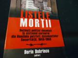 LISTELE MORTII-DORIN DOBRINCU-DETINUTI POLITIOCI DECEDATI IN SISTEMUL CARCERAL