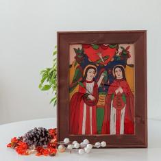 Buna Vestire-Icoana pictata pe sticla