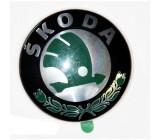 Emblema auto Skoda Octavia 1 (1U2/1U5) 1997-2010, Fabia 1 04.2000-03.2007, Felicia 1998-06.2001, fata , logo masca fata Kft Auto