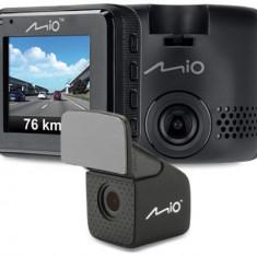 Camera video auto Mio MiVue C380 Dual, Full HD, Ecran 2inch, GPS + Camera spate (Negru)