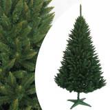Brad de Craciun artificial Molid 220 cm, cetina verde inchis, varfuri ascutite, suport cadou, ProCart