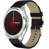 Ceas Smartwatch iUni N3 Plus, Curea Piele, BT, 1.3 Inch, IOS si Android, Silver
