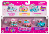 Set 3 masinute Wedding Wheels cu 3 figurine Shopkins Cutie Cars, Moose