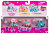 Set 3 masinute Wedding Wheels cu 3 figurine Shopkins Cutie Cars