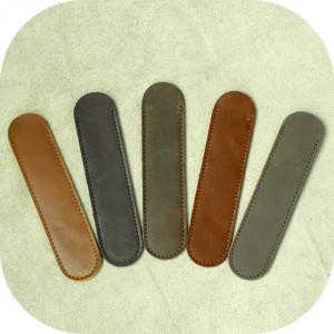 Etui simplu din piele naturala pentru stilou/pix/creion_manufactura