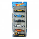 Set masinute Hot Wheels, Lamborghini, GHP62 (5 modele)