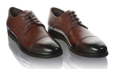 Pantofi barbati din piele naturala Komcero Kom-5019-143-BRW foto