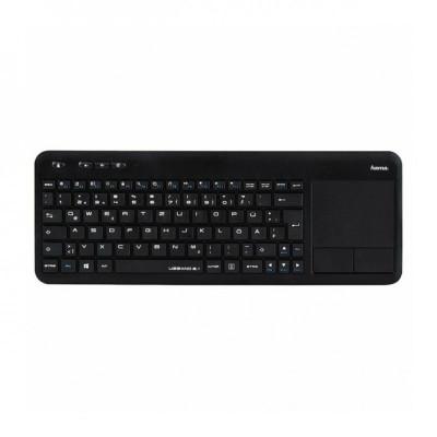 Tastatura wireless pentru Smart TV Hama Uzzano 3.1, touchpad integrat, Negru foto