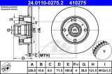Disc frana VW GOLF III (1H1) (1991 - 1998) ATE 24.0110-0275.2