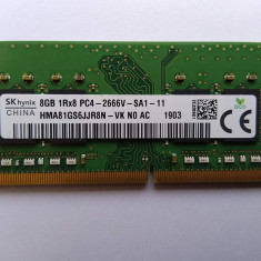 Memorie Ram Laptop SKhynix 8GB DDR4 PC4-2666V 2666Mhz