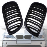 Grile duble negre BMW Seria 3 E46 Limo Touring 01-05, Diederichs
