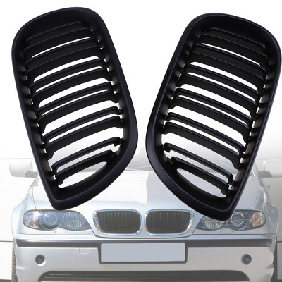 Grile duble negre BMW Seria 3 E46 Limo Touring 01-05 foto
