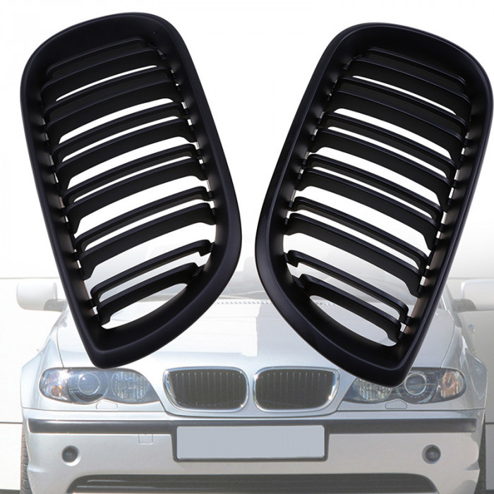 Grile duble negre BMW Seria 3 E46 Limo Touring 01-05