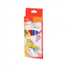 Creioane colorate 12 culori Deli ColoRun C003 00