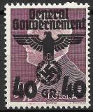 Ocupatia Germana in Polonia (General Gouvernement) 1940, serie completa, Nestampilat