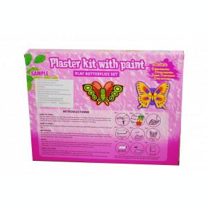 Set pentru pictat, include acuarele, pensule si figurine din ipsos (Fluturasi) pentru pictat