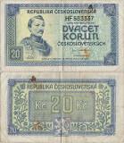 1945 , 20 korun ( P-61a ) - Cehoslovacia