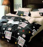 Lenjerie de pat din Finet satinat gros 2 persoane 4 piese F19 25