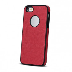 Husa APPLE iPhone 5\5S\SE - Silicon Textil TSS, Rosu