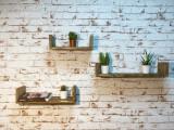 Set 3 rafturi de perete, Venice, palisandru, 50x10x11.4 cm, 40x10x11.4 cm