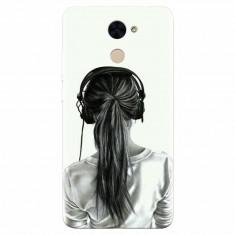 Husa silicon pentru Huawei Enjoy 7 Plus, Girl With Headphone