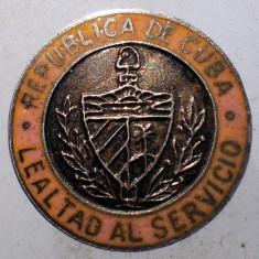 I.095 CUBA INSIGNA POLITIE BUTTON PIN LEALTAD AL SERVICIO LOYALTY SERVICE email