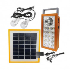Kit Lampa LED cu Panou Solar 1+15 LED SMD, USB, 2 Becuri BB9118