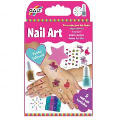 Set unghii artistice Galt Nail Art, 5 sticlute cu oja, 7 ani+