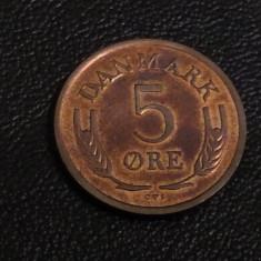 Monedă 5 Ore 1964 Danemarca