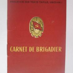 Carnet de Brigadier din anii 50