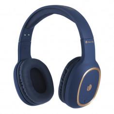 Casti Bluetooth Artica Pride Ride NGS, 10 m, conexiune microUSB, 180 mAh, Albastru
