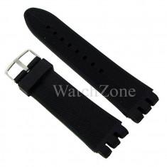 Curea Ceas 23mm Neagra Silicon Prindere Swatch WZ1856