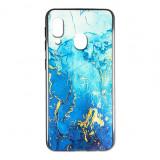 Husa Samsung A20e silicon cu sticla marmura