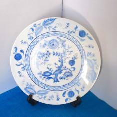 Farfurie portelan Hutschenreuther, pictata manual - Blue Onion - semnata BN 73