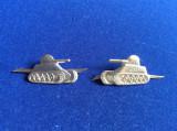 Insigne militare - Insigne România - Semne de armă - Tancuri (culoare argintie)