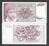 IUGOSLAVIA 50 DINARI DINARA 1990 UNC [1] P- 104 a , necirculata