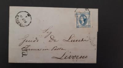 Italia - Cover 1863 (Regele Victor Emmanuel II) - stampila 1863, set. foto