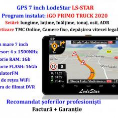 Navigatie Auto GPS 7 inch iGO Primo EU+RO 2020 Camioane/Autoturism TMC+WiFi+DVR
