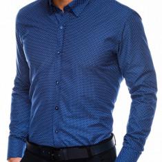 Camasa eleganta barbati K479 - bleumarin-alb