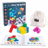 Joc logic Tetris - Cuburi Lemn