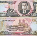 1992 , 100 won ( P-43s.1 ) - Coreea de Nord - stare UNC SPECIMEN