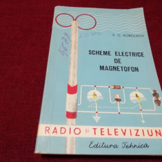 V G KOROLKOV - SCHEME ELECTRICE DE MAGNETOFON
