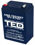 Acumulator stationar 12V 2,7Ah F1 AGM VRLA TED Electric TED1227