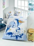 Lenjerie de pat pentru copii, Victoria, 121VCT2007, Multicolor
